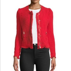 IRO Agnette Boucle Tweed Blazer Red 34